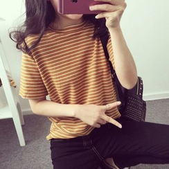 MATO - Striped Crewneck T-Shirt