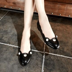 JY Shoes - Faux Pearl Flats