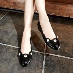 錦洋鞋業 - 仿珍珠平底鞋
