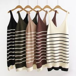 Angel Love - Sleeveless Striped Knit Dress