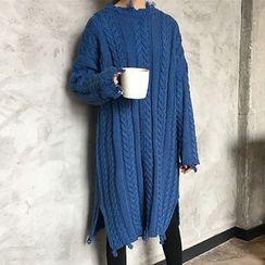 Glen Glam - 麻花針織毛衣裙