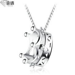 DIJING - Crown Pendant Sterling Silver Necklace
