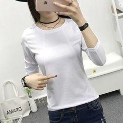 Cottony - Long Sleeve Crewneck T-Shirt