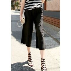 REDOPIN - Accordion--Pleat Cropped Pants