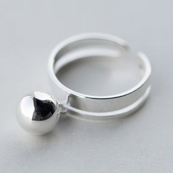 A'ROCH - 925 Sterling Silver Ball Open Ring