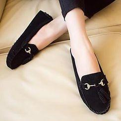 HOONA - 金属装饰饰吊苏莫卡辛鞋