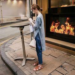 Porta - Fray Hem Cropped Jeans