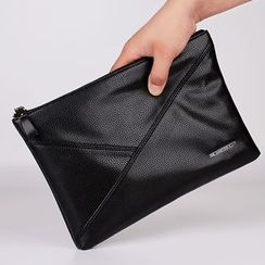 DANTEN'S - Panel Faux Leather Clutch
