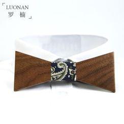Luonan - 木制蝴蝶结领带
