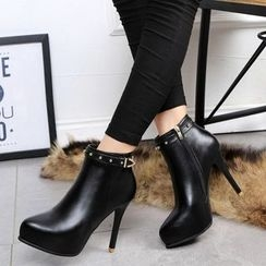 Yoflap - Studded High-heel Ankle Boots