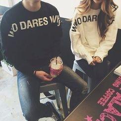 Century Girl - Couple Matching Letter Fleece-lined Sweatshirt