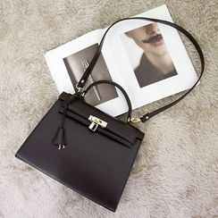 NANING9 - Faux-Leather Turnkey Shoulder Bag