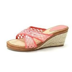 MODELSIS - Embroidered Cross- Strap Espadrille Mules