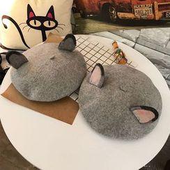 Hats 'n' Tales - Cat Ear Knit Beret Hat