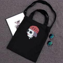 DUYU - Printed Canvas Shopper Bag