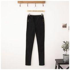 Maymaylu Dreams - 长裤。黑灰魔力极致修身牛仔长裤