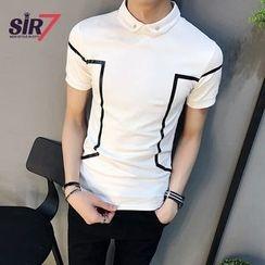SIRIUS - Short-Sleeve Color Block Polo Shirt