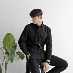 Seoul Homme - Flap-Pocket Dress Shirt
