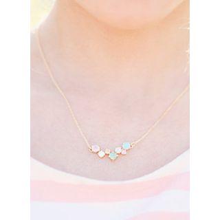 kitsch island - Multicolor Rhinestone Necklace