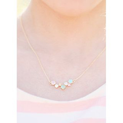 kitsch island - Multicolor Rhinestone Necklace