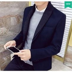 Fisen - Ribbed Collar Blazer