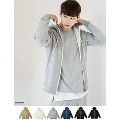 STYLEMAN - Colored Zip-Up Hoodie T-Shirt