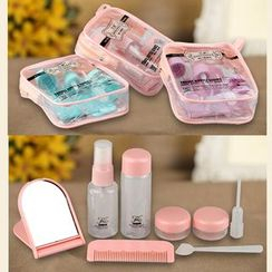 Mogugu - Set of 6: Travel Containers + Comb + Mirror