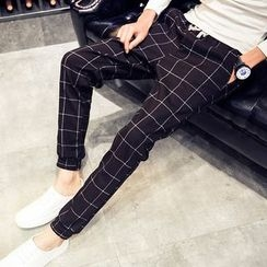 Telvi - Plaid Harem Pants