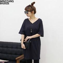 Seoul Fashion - V-Neck Long T-Shirt