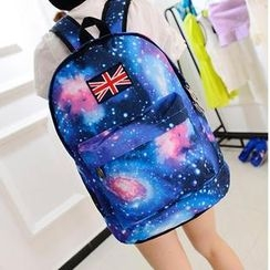 Miss Sweety - Galaxy-Print Appliqué Backpack