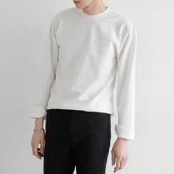 Seoul Homme - Round-Neck Long-Sleeve T-Shirt