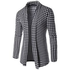 Fireon - Houndstooth Long Cardigan
