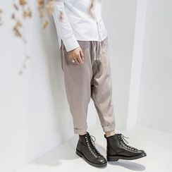 YIDESIMPLE - Drawstring Cropped Harem Pants