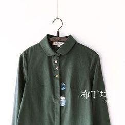 布丁坊 - 印花灯芯绒衬衫