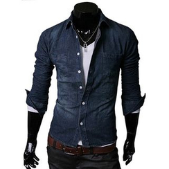 Fireon - Long-Sleeve Cotton Denim Shirt