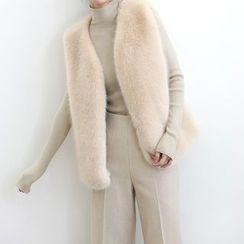 ELLY - Faux Fur Vest