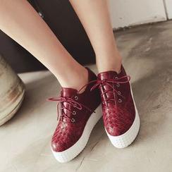 Pastel Pairs - 厚底系带鞋