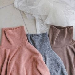 JUSTONE - Turtle-Neck Mélange Top