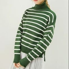 Honey House - Turtleneck Striped Sweater