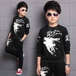 Pegasus - Kids Set: Printed Long-Sleeve T-Shirt + Pants