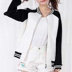Fairyland - Color Block Bomber Jacket