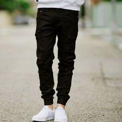 SeventyAge - 刷破造型JOGGER风休閒长裤缩口裤
