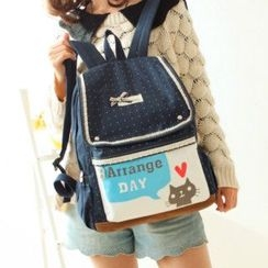 Canvas Love - Cat Print Canvas Backpack