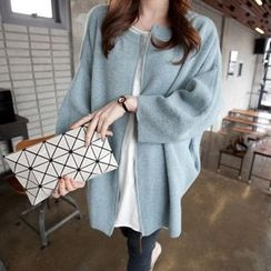 Autunno - Plain Zip Knit Cardigan