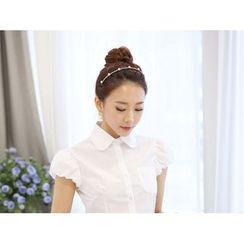 KOKA - 泡泡短袖衬衫