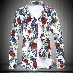 Riverland - Floral Print Long-Sleeve Shirt