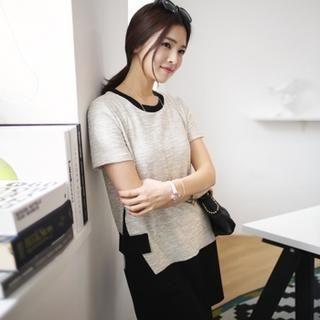 Soneed - Color-Block Knit Dress