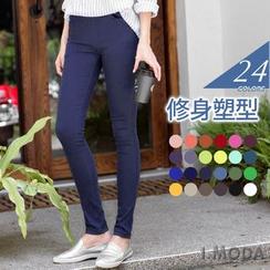 OrangeBear - Slim-Fit Tight Stretch Pants