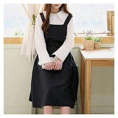 Sechuna - Wool Blend Suspender Dress