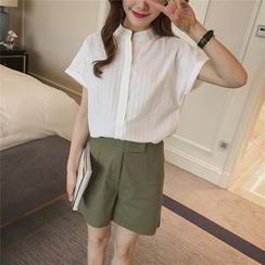 小沫商城 - 套裝: 短袖襯衫 + A字短褲